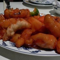 Stir-Fried Sweet and Sour Chicken Recipe - Pan fried chicken served with an ever-popular sweet and sour sauce.