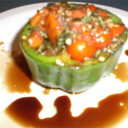 Pepper Roasted with Garlic, Basil and Tomatoes