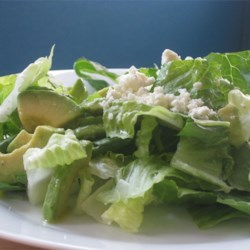 Great Green Salad Recipe - Yummy green feta salad, great for summer evenings! Add as many fruits and vegetables as you wish - I usually add pears or tangerines depending on the season.
