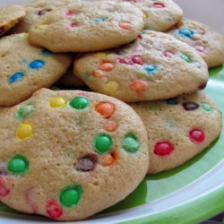 Candy-Coated Milk Chocolate Pieces Party Cookies Recipe - This is a easy, delicious recipe I have  had since the 70's.  Always a winner and  always requested.