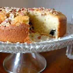 Dried Cherry Cake Recipe - Dried cherries are reconstituted with almond extract to give this cake recipe a delightful flavor that goes great with coffee.