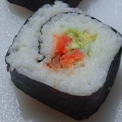 Smoked Salmon Sushi Roll Recipe - Allrecipes.com