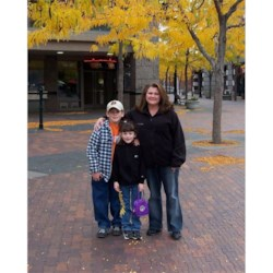 Me and the kids, downtown Boise, ID.