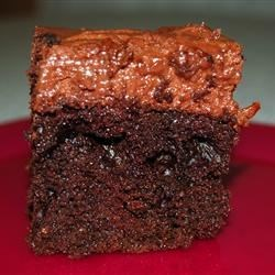 Chocolate Cake IV Recipe - Use any flavor of gelatin to compliment this refreshing chocolate version of the poke cake.  Serve it straight from the freezer.
