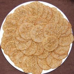 Benne Wafers Recipe - Since I live in the South people refer to these cookies as Benne Wafers, they are actually Sesame Seed Cookies. Toasting benne (sesame) seeds develops their flavor and also gives these cookies a slightly crunchy texture.