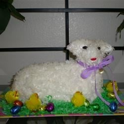 Easter Lamb Cake I Recipe - This is a great cake recipe you can make in a special lamb-shaped mold for a terrific and eye-catching Easter-dinner dessert.