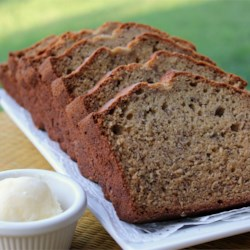 Banana Peanut Butter Bread Recipe -  In this clever recipe, a popular variation on the peanut butter sandwich is made into a bread! It also calls for walnuts.