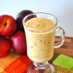 Nectarine Sunshine Smoothie Recipe - Enjoy the brief, sweet season of fresh nectarines with this delicious smoothie.