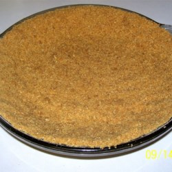 Graham Cracker Crust II Recipe -  If you 're thinking light desserts, then this crust is a must. There 's no sugar in this recipe, just graham crackers and butter. This is the perfect quick-fix crust if you need to make a slew of pies. It stirs up and bakes in minutes.