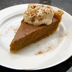 Sweet Potato Butternut Squash Pie Recipe - Butternut squash and sweet potatoes lend a custard-like texture to this wonderful pie idea.