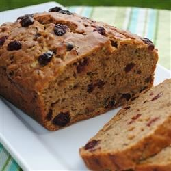 Zucchini Bread with Dried Cranberries Recipe - These tangy loaves are moist and delicious!