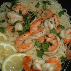 Lemon and Cilantro Shrimp Recipe - This is a delicious shrimp dish and very easy to prepare. It can be served alone, on top of a baby green salad, or over pasta.