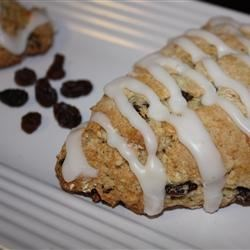 Walnut Raisin Scones Recipe - Lemon peel provides a lovely counterpoint to the walnuts and raisins in these buttermilk scones.