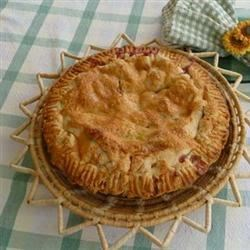 Best Ever Pie Crust Recipe - Some flour, vegetable shortening, water and a pinch of salt is all that 's needed to make this very flaky crust that will make your favorite pie even better than usual.