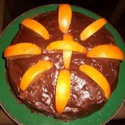 Very Orange Cake w/ Dark Chocolate Orange Icing