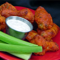 Restaurant-Style Buffalo Chicken Wings Recipe - Restaurant-style buffalo chicken wings can be prepared in the comforts of your own home with a few simple ingredients.