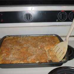 Broccoli Cheese Casserole Recipe - This recipe is a real hit with anyone, especially kids. They just love the combination of the broccoli, rice and cheese!  The water chestnuts add a surprise crunch.  Great for a buffet crowd. Buttered bread crumbs may be substituted for almonds as a topping.