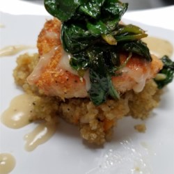 Roasted Salmon with White Wine Sauce - Review by Ginny ...