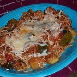 Turkey meatballs and whole wheat spaghetti