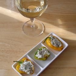 Baby Peppers and Goat's Cheese