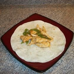 My first chicken fajita