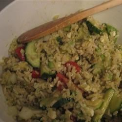 Greek Rice Salad Recipe - Avocado, tomato, and brown rice are the main components of this salad recipe.