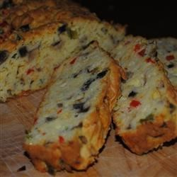 Mushroom Cheddar Batter Bread