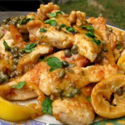 Lemon Chicken Piccata Recipe and Video - Pan-fried chicken breast medallions get a light, fresh lemon-butter sauce with capers and parsley.