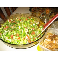Lebanese Fattoush Recipe - Fattoush is a flavorful and rich Lebanese salad. Pomegranate adds a sweet-and-sour flavor.