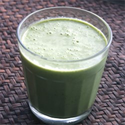 Groovy Green Smoothie Recipe - A great way to get your kids to eat greens! You will be amazed by this yummy fruity smoothie. Experiment with different amounts or types of fruit and make your own.