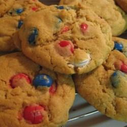Soft M&M Cookies