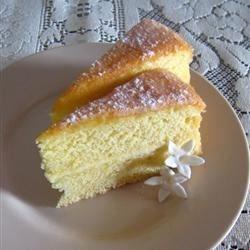Egg-Yolk Sponge Cake Recipe - This is a moist and tender cake with plenty of orange flavor.