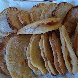 Apricot and Peach Fried Pies Recipe - Dried apricots and peaches are cooked down to make a luscious filling for crispy, flaky hand-held pies.
