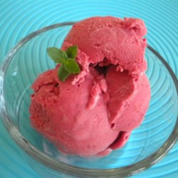 Five Minute Ice Cream Recipe - A fast way to make delicious ice cream without compromising quality. Use any frozen fruit in place of the strawberries. This is a quick recipe to WOW company who drop by.