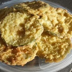 Fried Zucchini Recipe - Breaded and fried zucchini with onions.