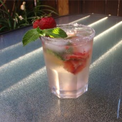 Strawberry Mojito Recipe - I had this drink at a popular chain restaurant and decided to try it at home.  I have served it at a couple different gatherings now and it has always been given rave reviews. It's the perfect drink for a hot summer day!