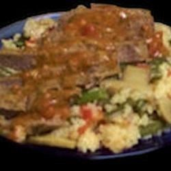 Balsamic Steak with Vegetable Couscous