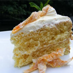 Beat and Bake Orange Cake Recipe - This quick orange cake is delicious without the frosting. I sometimes just sprinkle icing sugar on the top. This recipe can be used to make two 8-inch cake layers or a 9x5-inch loaf. If making a loaf cake, bake for 60 minutes.