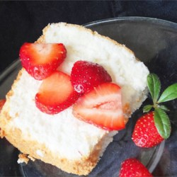 Angel Food Cake I Recipe - Homemade angel food cake is worth the work.  It is moist, unlike the sweet styrofoam available in the grocery bakery.  A tube pan with a removable bottom is highly recommended.