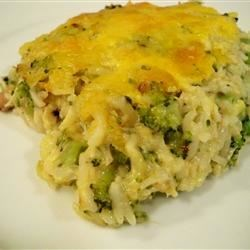 Broccoli Rice Casserole Recipe and Video - A creamy side dish that is baked in a delicious cheese sauce. This is the best broccoli rice casserole you will ever eat!