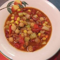 Grandma's Slow Cooker Vegetarian Chili