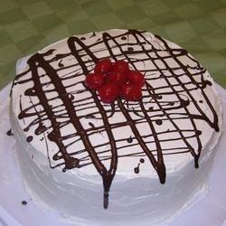 Husband's 24th Birthday Cake (Black Forest Delight - Kraft Canada recipe)