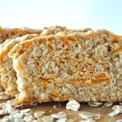 Oatmeal Whole Wheat Quick Bread with cheese added