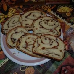 Raisin Cinnamon Loaf slices