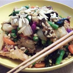 Foreign Devil Fried Rice Recipe - My husband is Chinese and I am Western. Between the two of us we came up with this recipe for fried rice that is actually a meal in a bowl. I can do this dish in well under half an hour, and that includes all the chopping. This dish is good for colds, depression, writer's block, stubbed toes, insomnia, heartbreak, religious crises and general crankiness. It can change your life. Yum.
