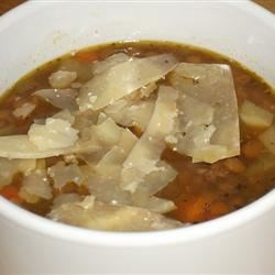 Spicy Sausage & Lentil Soup