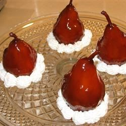 Red Wine Glazed Pears