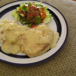 Sweet Pork Chops Recipe - Pork chops are cooked in a tangy apple juice sauce, which is then thickened into an irresistible gravy.