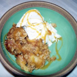"Best Ever Caramel Apple Crisp Recipe - ""When our class visited an apple farm this fall, we realized that we all shared a common love apples dipped in caramel. We created this really easy dessert that the whole family can enjoy."""