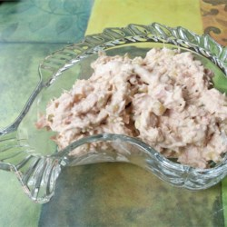Drop Dead Delicious Tuna Salad Recipe -  We think that it 's the pickle relish and the splash of lemon that makes this tuna salad so good, but it could just be the perfect coming together of five simple ingredients.